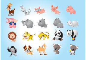 Dieren cartoons pack