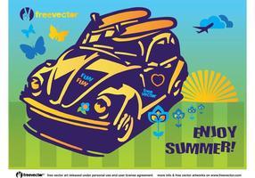 Carro de Beetle de Diversão de Verão