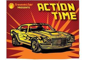 Seventies Car vector