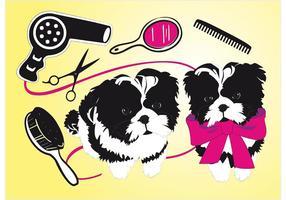 Salón de belleza lindo de los perros