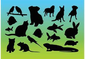 Animal Silhouettes Vectors