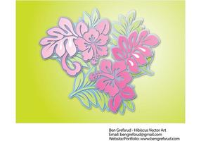 Hibiscus Flowers Vector