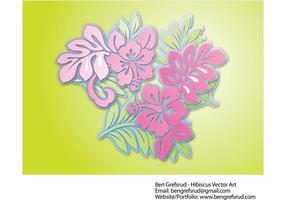 Hibiscus Flowers Vector