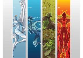 Four Elements by Cris Vector