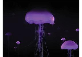 Neon Jellyfish Background