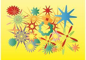 Estrelas de flores