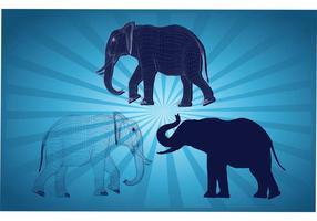 Graphiques d'éléphants