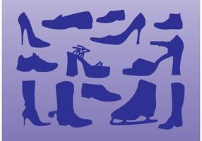 Vetores de sapatilhas