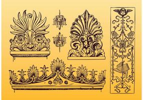 Antiguo ornamento vectores