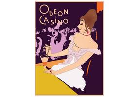 Retro Casino Póster Vector