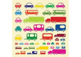 Car-truck-bus-vectors