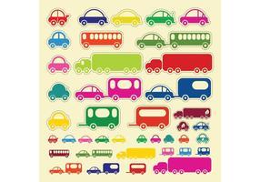 Vectores Del Autobús Del Carro Del Coche