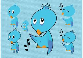 Blue Bird Vectors