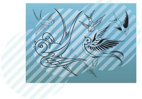 Arte vector de aves