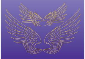 Desenho de vetores das asas