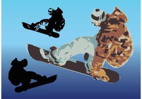 Arte del vector de la snowboard