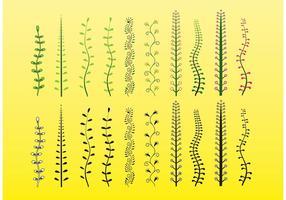 Clip Art vetorial de plantas