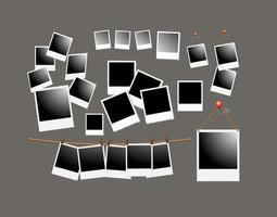 Polaroid frame-vectoren