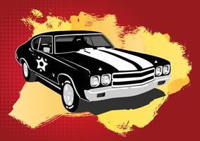 Retro coche vector