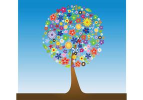 Flower-tree-vector