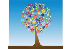 Vecteur arbre fleur