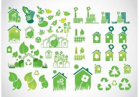 Miljö ikoner