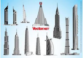 Wolkenkrabbervectoren
