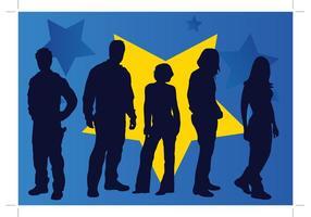 People-silhouette-vectors
