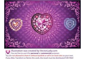 Diamond Heart Vectors