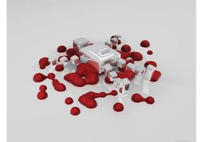 Blutformen Tapete