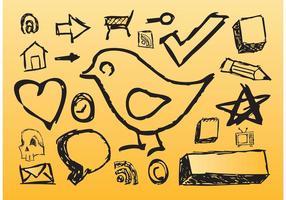 Handgezeichnete Ikonen