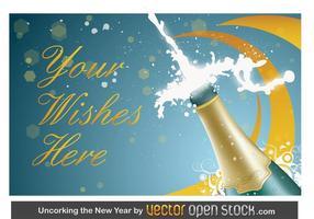 Neujahr Champagner