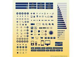 Ícones de botões de Internet