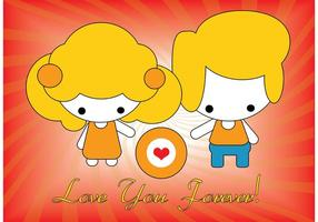 Vektor kärlekskort