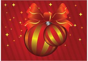 Vecteur de boules de Noël