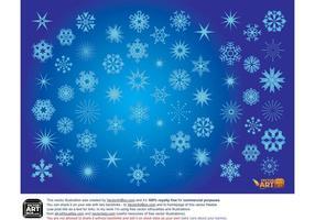 Flocons de neige vectoriels