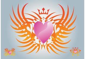 Graphiques vectoriels gratuits pour le coeur