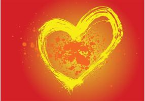 Heart Painting Vector