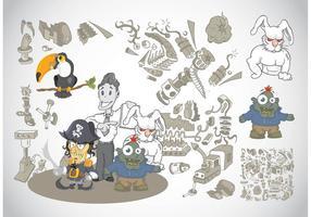 Caricaturas extrañas