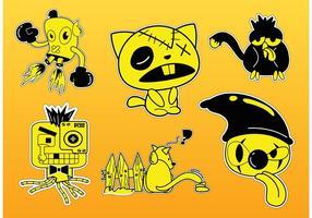 Vetores de personagens comic