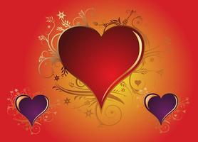 Vecteurs cardiaques valentine