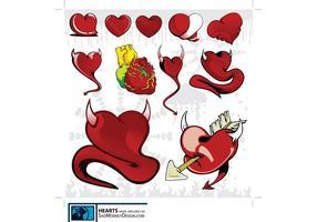 Gráficos divertidos do coração