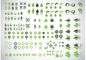 Gröna planetvektorer