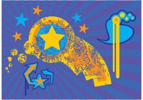 Strahlender Himmel Vektor Clip Art