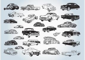 Vintage coches Vectores
