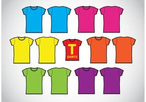 Girls T-Shirts Template Vectors