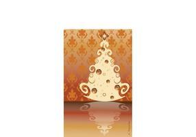 Weinlese-Weihnachtsbaum-Vektor