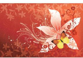 Flower Butterfly Vector
