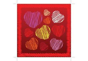 Heart Scribbles Vectors