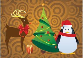 Vecteurs de personnages de Noël gratuits